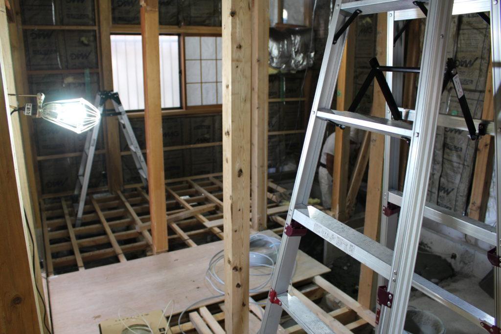改装工事13~14日目@暑さが戻ってきました。